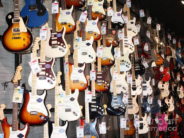 Wall Art - Photograph - Guitar Wall Of Fame by John Telfer