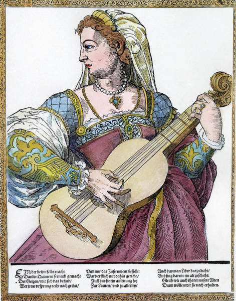 Painting - Guitarist, 16th Century by Granger