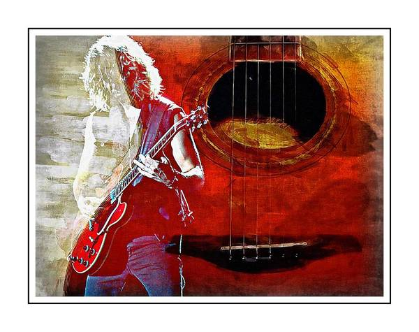 Photograph - Guitarist By Guitar by Alice Gipson