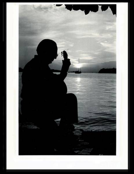 Photograph - Guitarist By The Sea by The Art of Alice Terrill