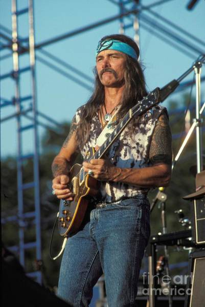 Allman Brothers Band Photograph - Guitarist Dickie Betts by Concert Photos