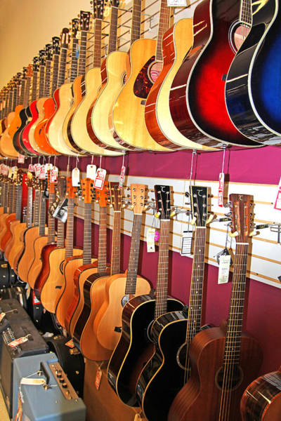 Photograph - Guitars For Sale by Jennifer Robin