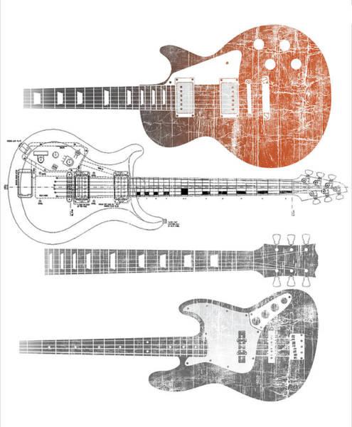 Hobby Painting - Guitars by Jim Baldwin