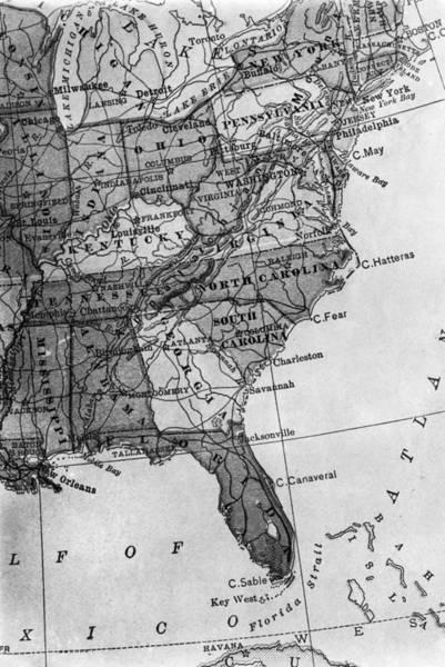 Wall Art - Photograph - Gulf Coast Map, 1913 by Granger