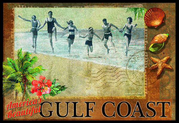Postmark Painting - Gulf Coast by R christopher Vest