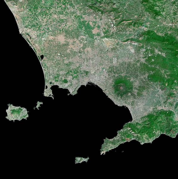 Wall Art - Photograph - Gulf Of Naples by Mda Information Systems/science Photo Library