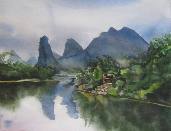 Painting - Gulin Reflection by Alfred Ng