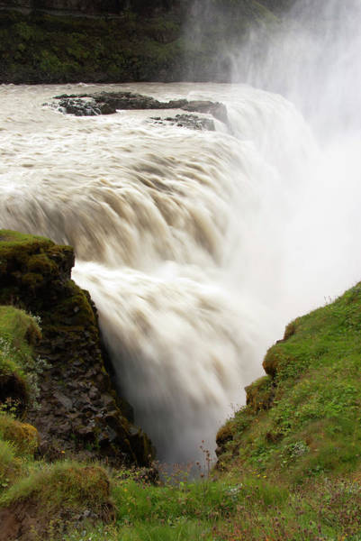 Gullfoss Golden Waterfall On River Art Print by Martin Moos