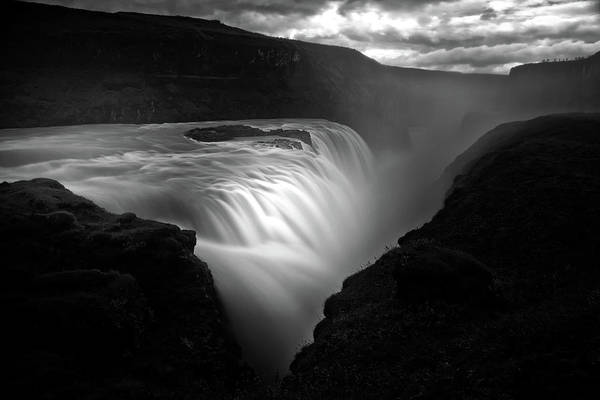 Flowing Photograph - Gullfoss by Oliver Buchmann