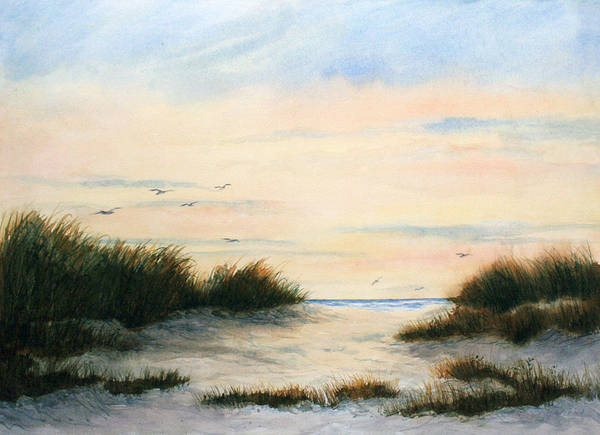 Cape May Painting - Gulls Gathering by Vikki Bouffard