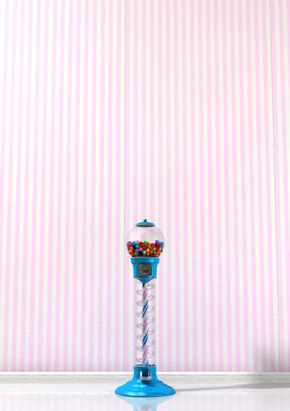 Reflective Digital Art - Gumball Machine In A Candy Store by Allan Swart