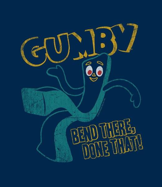 Gumby Digital Art - Gumby - Bend There by Brand A