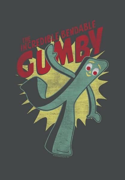 Wall Art - Digital Art - Gumby - Bendable by Brand A