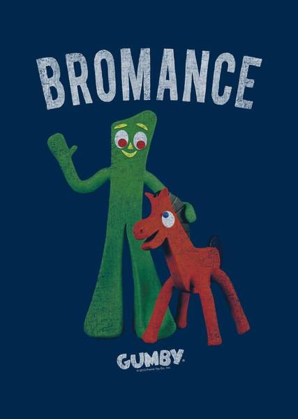 Gumby Digital Art - Gumby - Bromance by Brand A