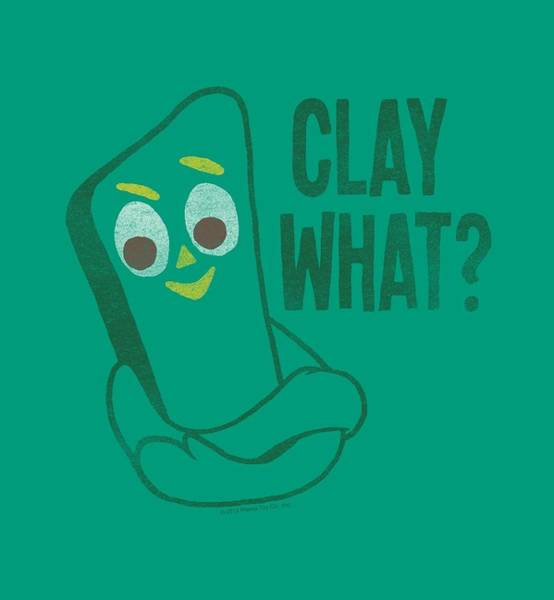 Wall Art - Digital Art - Gumby - Clay What by Brand A