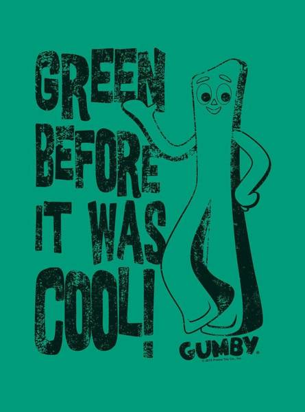 Gumby Digital Art - Gumby - Cool Green by Brand A