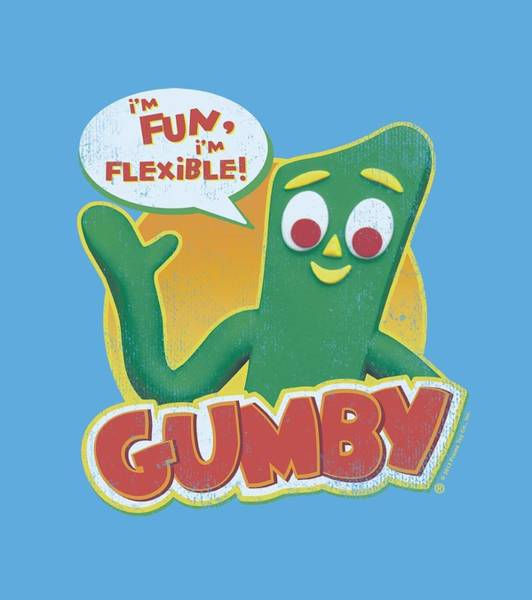 Wall Art - Digital Art - Gumby - Fun And Flexible by Brand A