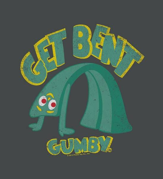 Gumby Digital Art - Gumby - Get Bent by Brand A