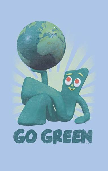 Gumby Digital Art - Gumby - Go Green by Brand A
