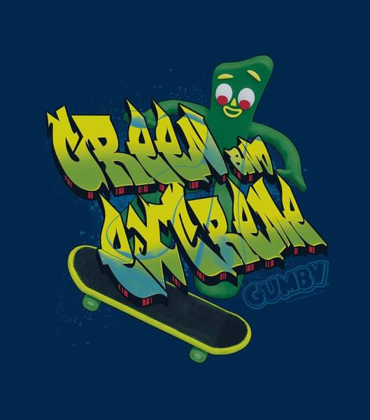 Gumby Digital Art - Gumby - Green And Extreme by Brand A