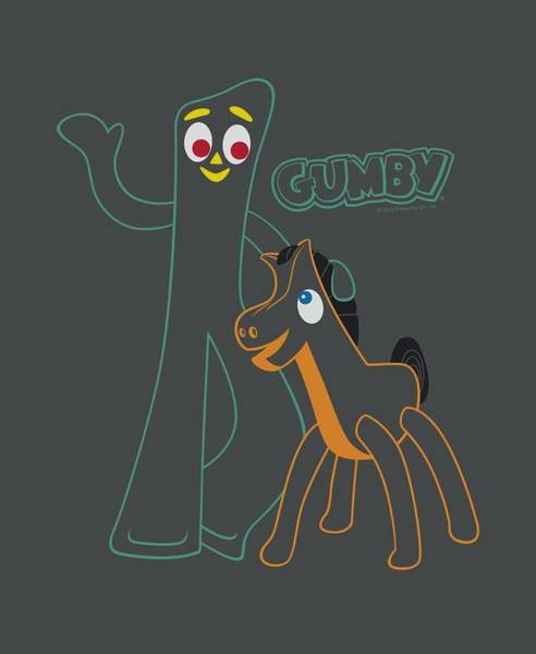 Wall Art - Digital Art - Gumby - Outlines by Brand A
