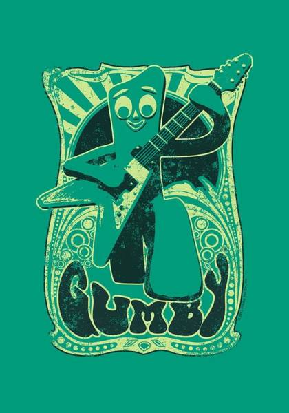 Gumby Digital Art - Gumby - Vintage Rock Poster by Brand A