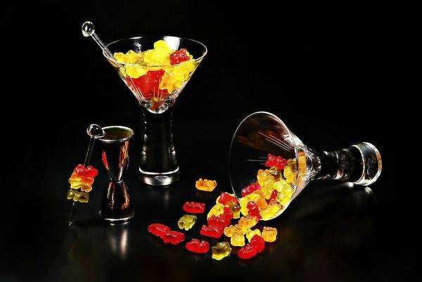 Tab Photograph - Gummy Bear Martini by Diana Angstadt
