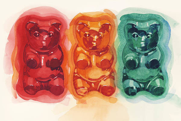 Gummy Bear Painting - Gummy Group 4 by Dick Close