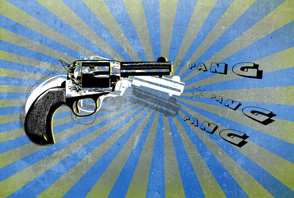 Assault Weapons Digital Art - Gun 17 by Mark Ashkenazi