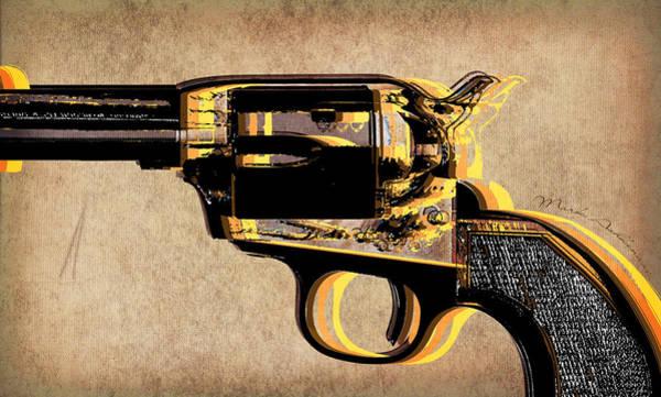 Assault Weapons Digital Art - Gun 4 by Mark Ashkenazi
