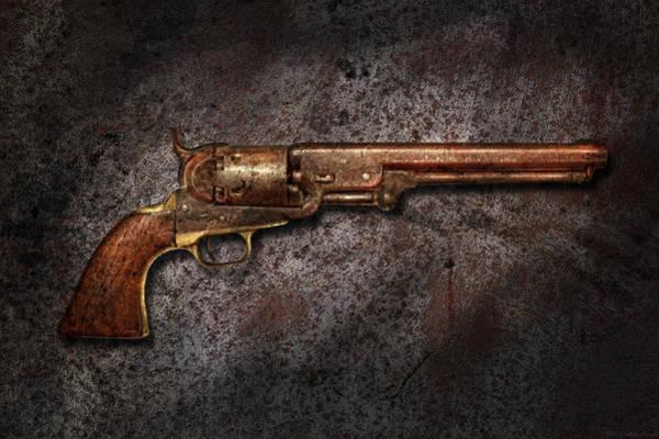 Gunslinger Photograph - Gun - Colt Model 1851 - 36 Caliber Revolver by Mike Savad