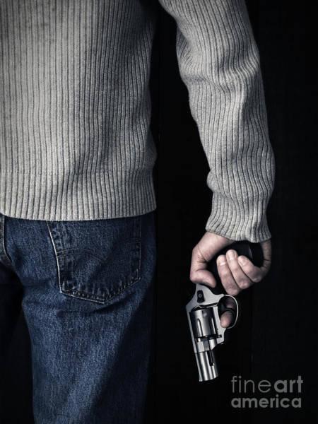 Cops Photograph - Gun by Edward Fielding