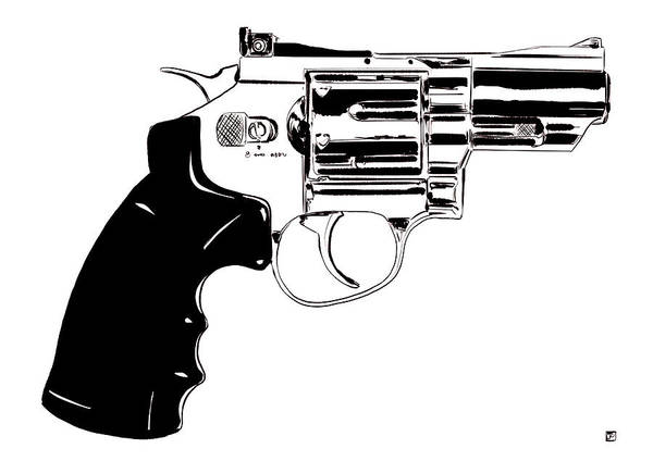 Pistols Wall Art - Drawing - Gun Number 27 by Giuseppe Cristiano