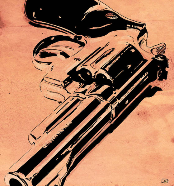 Popart Drawing - Gun Number 6 by Giuseppe Cristiano