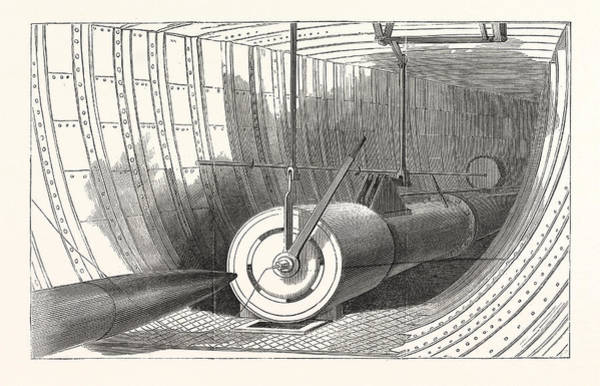 Early American History Drawing - Gun Of Ericssons Torpedo-boat Destroyer by American School