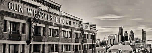 Photograph - Gun Wharves Bw by Heather Applegate