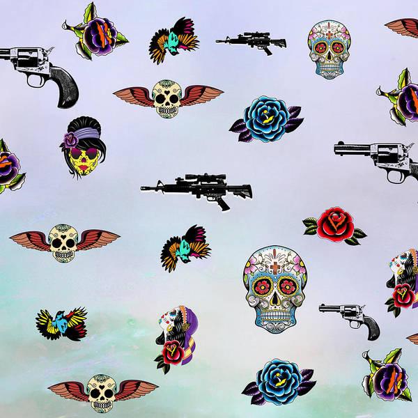 Wall Art - Digital Art - Guns And Roses  by Mark Ashkenazi