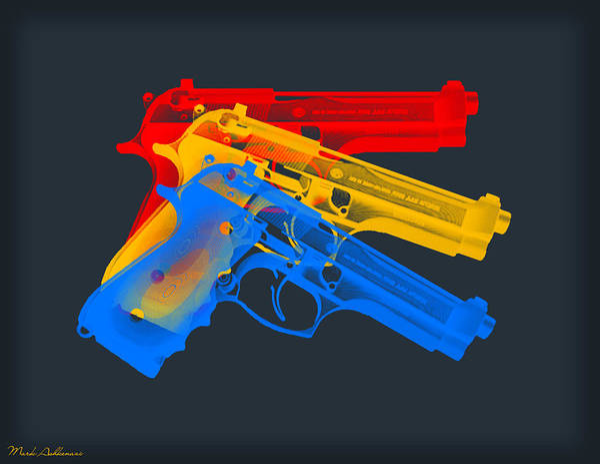 Wall Art - Digital Art - Guns by Mark Ashkenazi