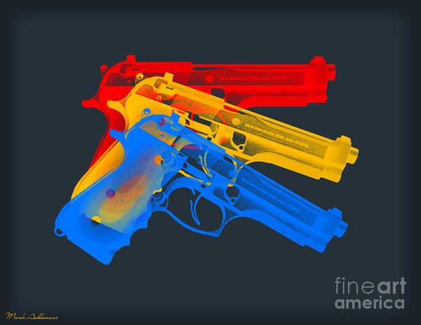 Weapons Digital Art - Guns by Mark Ashkenazi