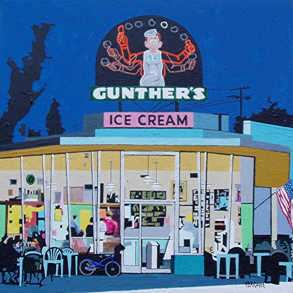 Wall Art - Painting - Gunthers Number 4 by Paul Guyer