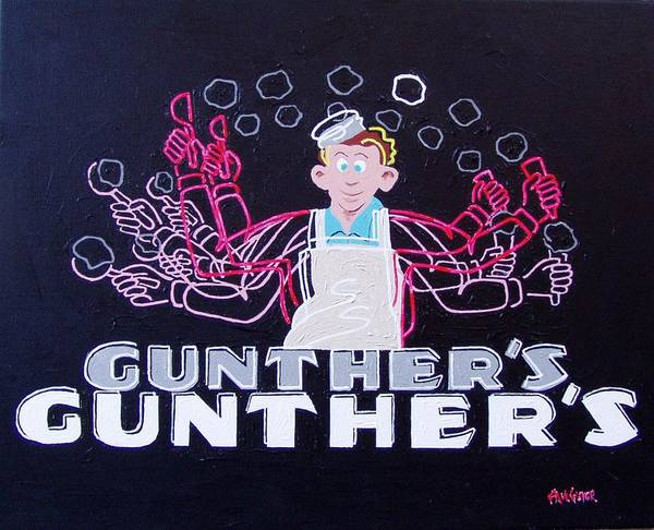 Wall Art - Painting - Gunthers Number 5 by Paul Guyer