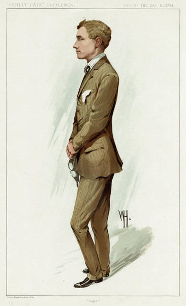 Wall Art - Drawing - Gustave Hamel  Aviator        Date 1888 by Mary Evans Picture Library