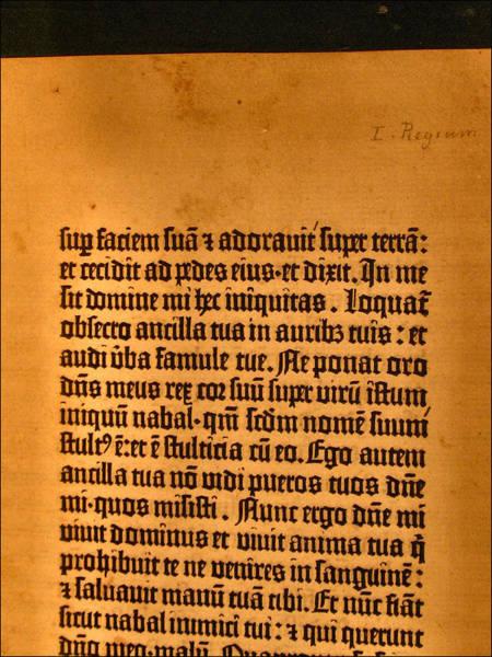 Photograph - Gutenberg Bible Leaf 5a- 1450-55 by Glenn Bautista