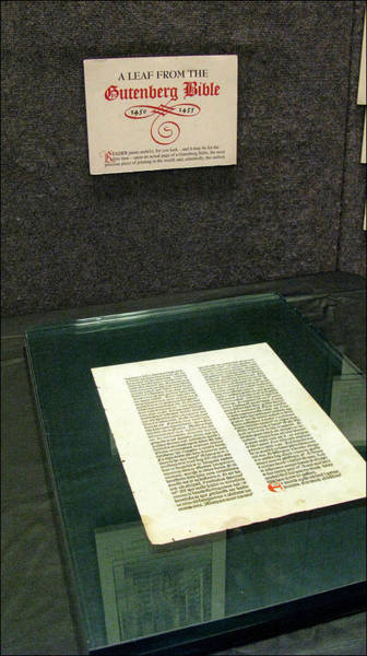 Photograph - Gutenberg Bible1 1450-55 by Glenn Bautista