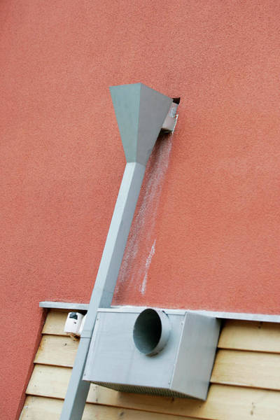 Vent Photograph - Guttering And Ventilation Inlet by Gustoimages/science Photo Library