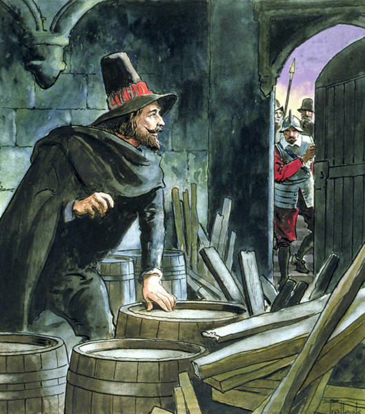Wall Art - Painting - Guy Fawkes, From Peeps Into The Past by Trelleek