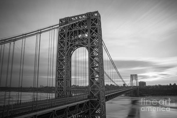 Gw Bridge Winter Sunrise Art Print