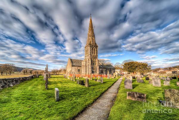 Grave Yard Photograph - Gwyddelwern Church by Adrian Evans
