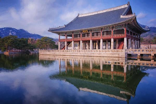 Photograph - Gyeonghoeru Pavilion by Joan Carroll