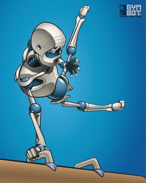 Wall Art - Digital Art - Gym-bot Pommels 3 by Nicholas Bockelman